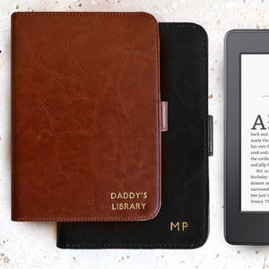 Personalised Kindle Case In Black Or Brown