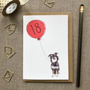 Personalised 18th Birthday Card Dog Design