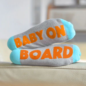 Baby On Board Feet Up Socks - mother's day gifts