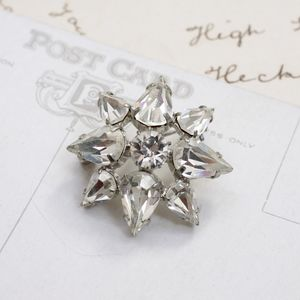 Vintage Diamante Star Brooch