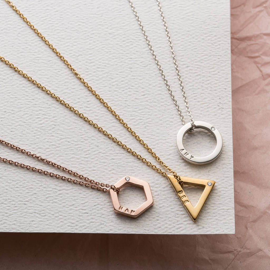 pendant products highres gold rose martick jewellery geometric triangle