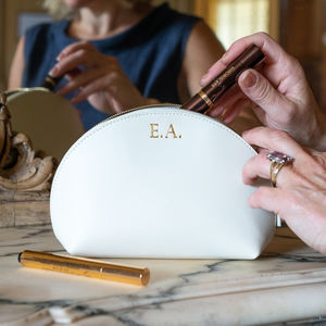 Limited Edition Leather Make Up Bag - personalised gifts