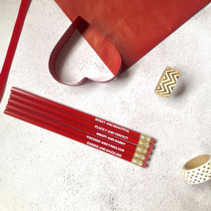 Stocking Fillers Red Girls Boss Pencils
