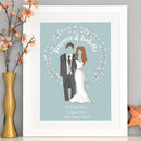 Personalised Wedding Couple Art