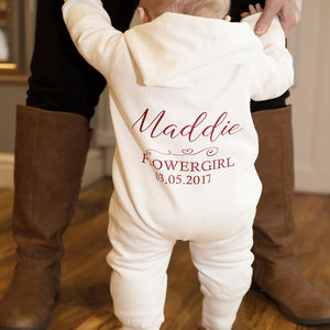 Personalised Baby/ Toddler Flowergirl/Pageboy Onesie