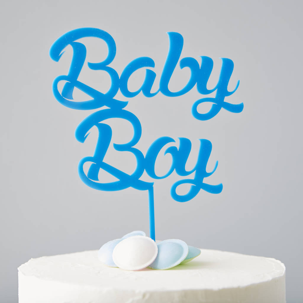 'baby boy' baby shower cake topper by sophia victoria joy ...