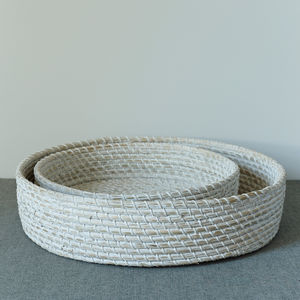 Seagrass Bread Basket And Tray