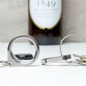 Luxury Personalised Bottle Opener Keyring
