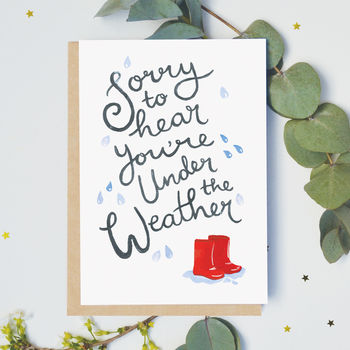 Under The Weather Get Well Card