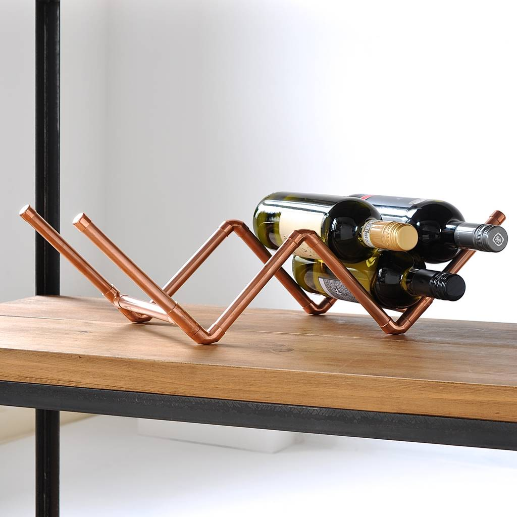Copper Wine Rack By Möa Design Notonthehighstreetcom