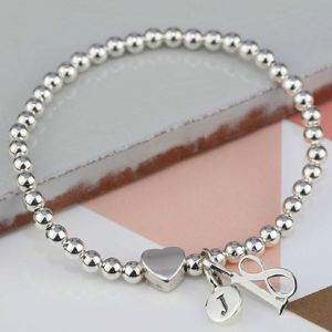 Personalised Solid Silver 'Milly' Heart Bracelet - winter sale