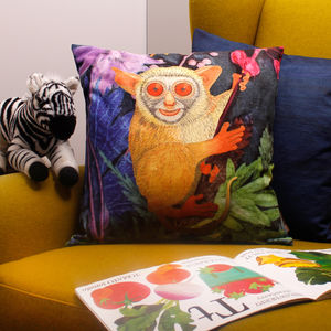 Tropical Bush Baby Animal Cushion Print Gift - cushions