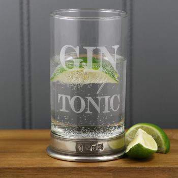 Personalised Gin And Tonic Highball Glass