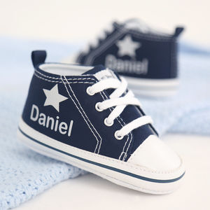 Personalised Silver Star High Tops - gifts for babies