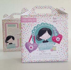 Activity Sewing Craft Kit Spotty Hearts