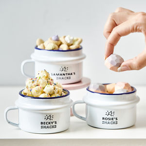 Personalised Enamel Snack Pot - gifts for babies & children sale