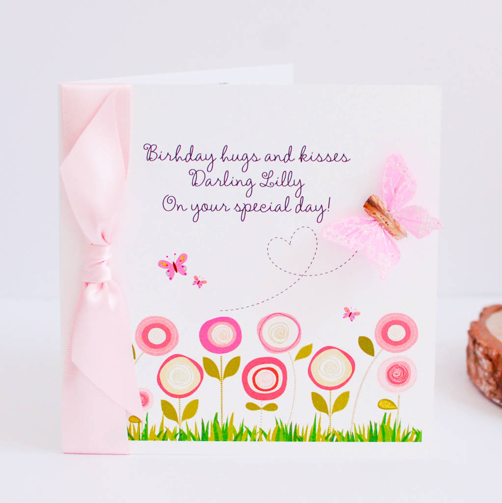Personalised Card For Daughters 1st Birthday From Mummy Daddy