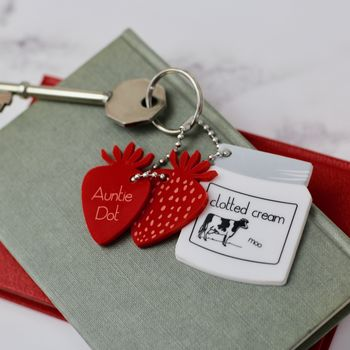 Wimbledon Inspired Personalised Key Ring