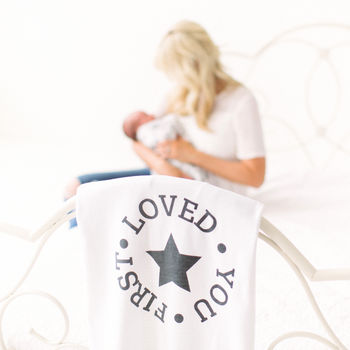 Organic Cotton 'Loved You First' Blanket