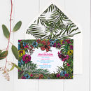 Tropical Jungle Wedding Invitations