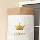 Personalised Crown Paper Storage Bag