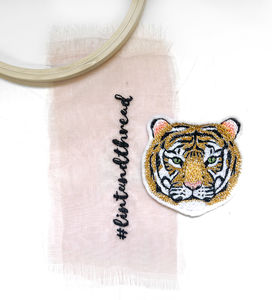 Tiger Patch, Embroidered Big Cat Patch Accessory