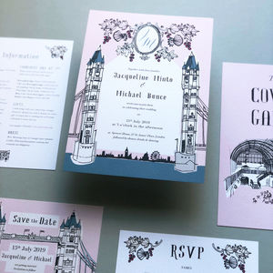 Old London Wedding Invite Sample