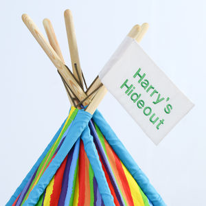 Personalised Wigwam Tipi Play Tent Flag