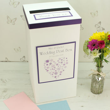 Personalised Ice Wedding Post Box