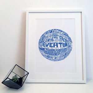 Everton Football Club Typography Print