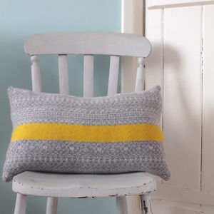 Bold Stripe And Fair Isle Rectangle Cushion - living room