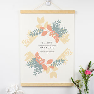 Personalised 1st Anniversary Paper Print - 1st anniversary: paper