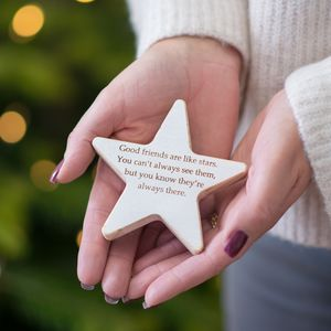 Good Friends Wooden Star Keepsake - gifts for her