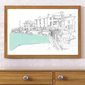 Padstow Harbour Signed Print