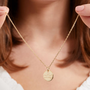 Personalised Secret Message 'I Love You' Necklace