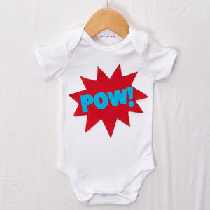 'Pow!' Babygrow - clothing