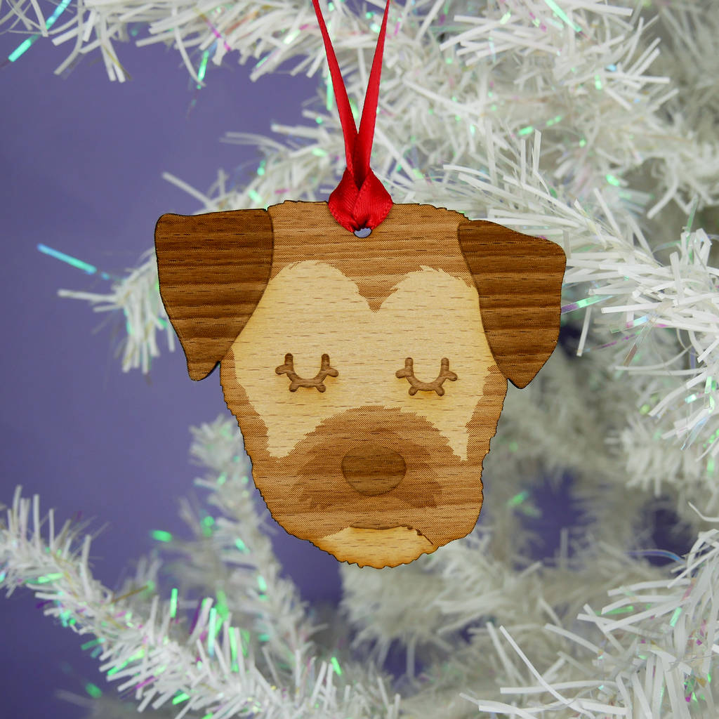 border terrier wooden christmas decoration by hoobynoo ...