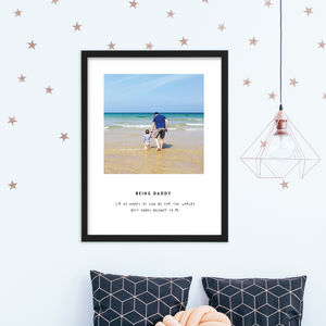 Being Daddy Personalised Fathers Day Print - new in prints & art