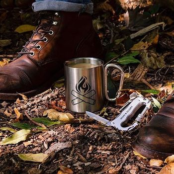 Happy Camper Aluminium Travel Mug
