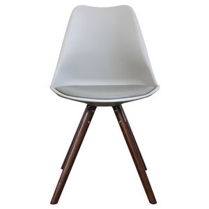 Light Grey Copenhagen Chair With Walnut Wooden Legs - furniture