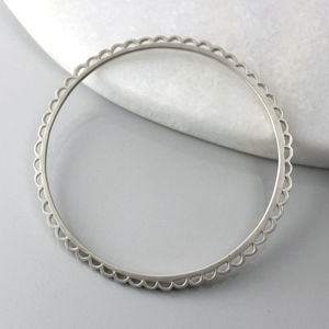 Scalloped Bangle - bracelets & bangles