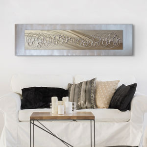 Champagne Bubbles Metal Wall Art - modern & abstract