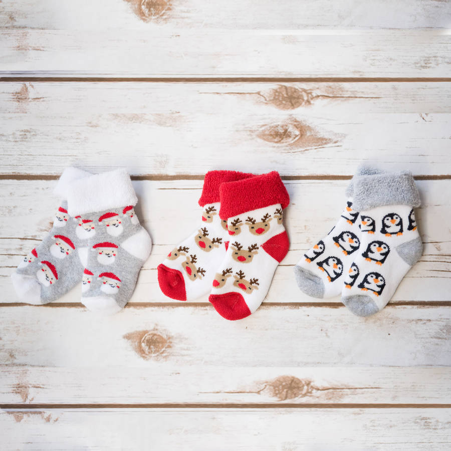 babys first christmas socks by ruby and freddies ...