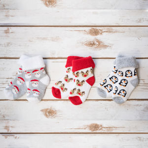 Babys First Christmas Socks - clothing