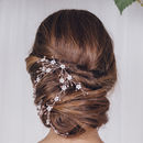 Gold, Silver Or Rose Gold Floral Wedding Hairvine Evie