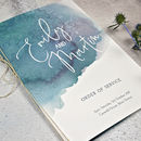 Personalised Watercolour Hues Order Of Service