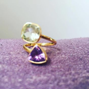 Amethyst And Citrine Gold Ring
