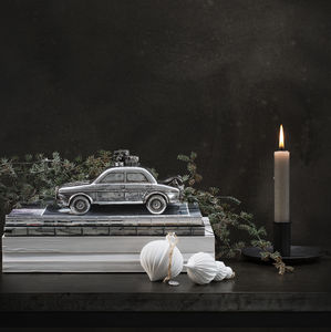 Silver Car Christmas Decoration - sale
