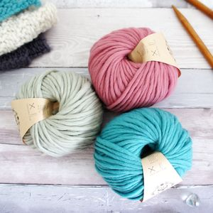 Chunky Wool Bundle For Knitting And Crochet Gift Set