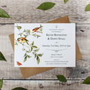 Garden Bird Wedding Invitation Suite